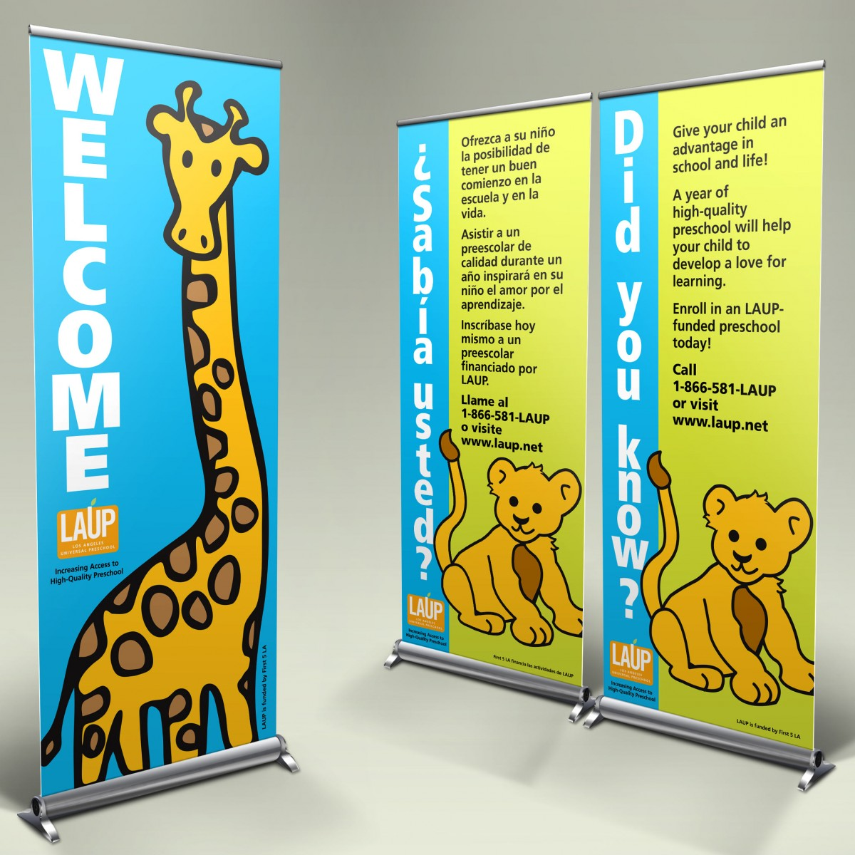 Los Angeles Universal Preschool welcome banners