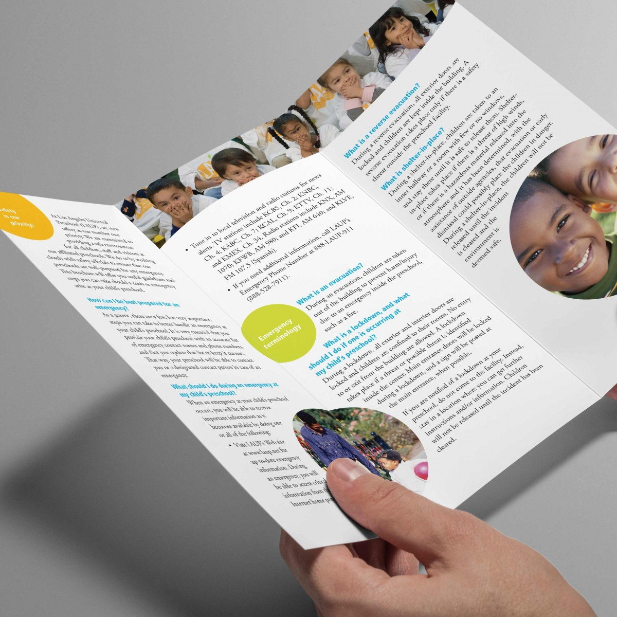 LAUP parent's trifold brochure interior