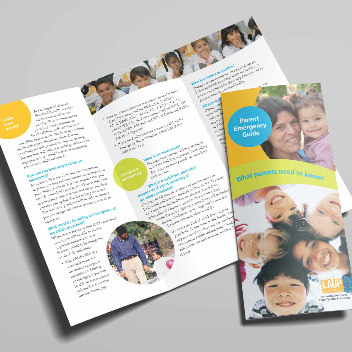 LAUP parent's trifold brochure interior and cover
