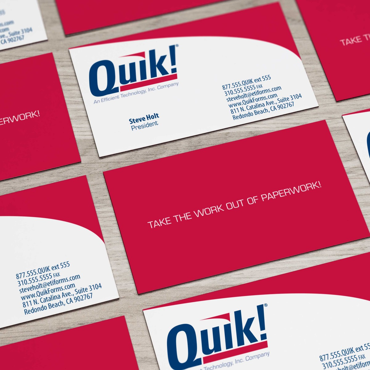 Quik! business cards
