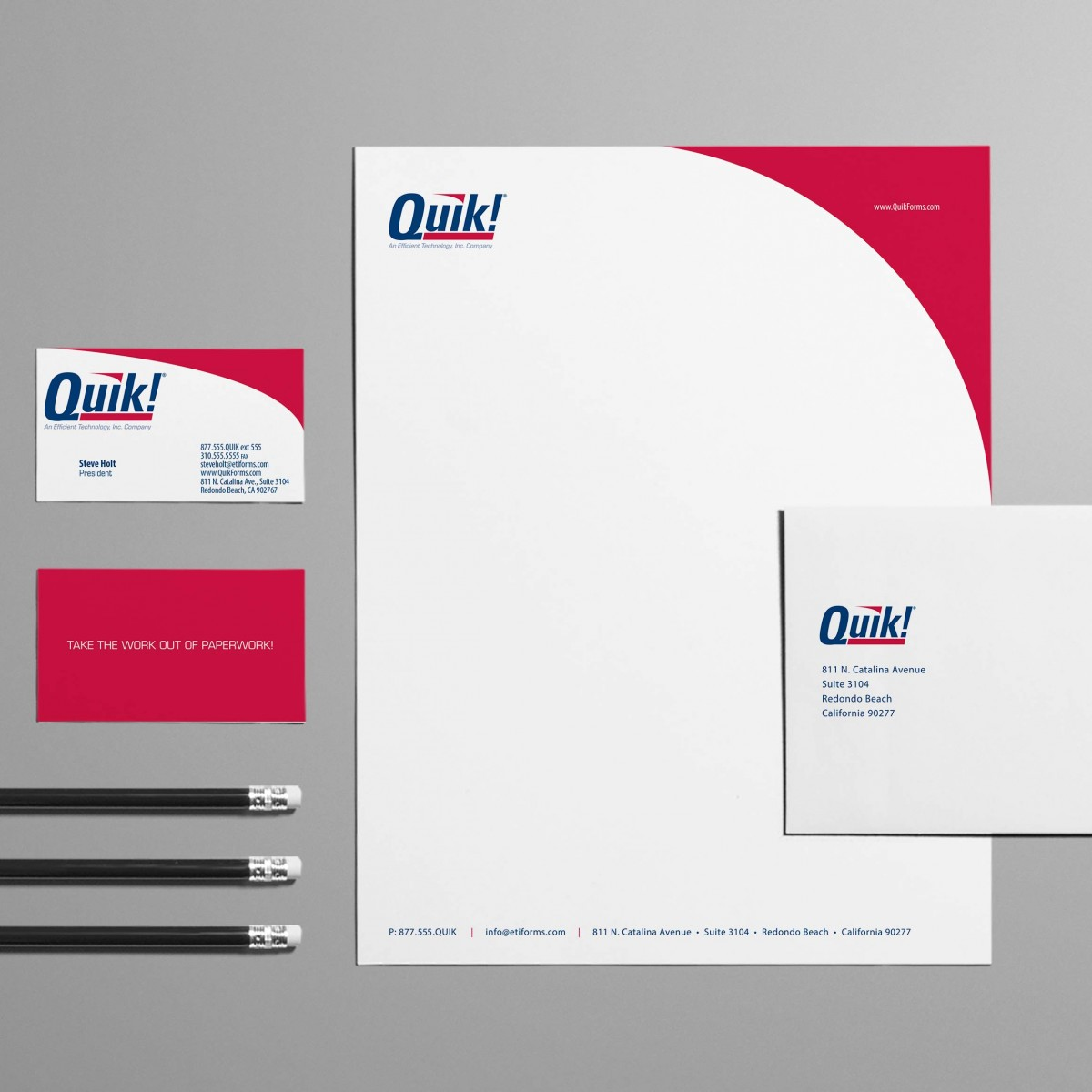 Quik! stationery system