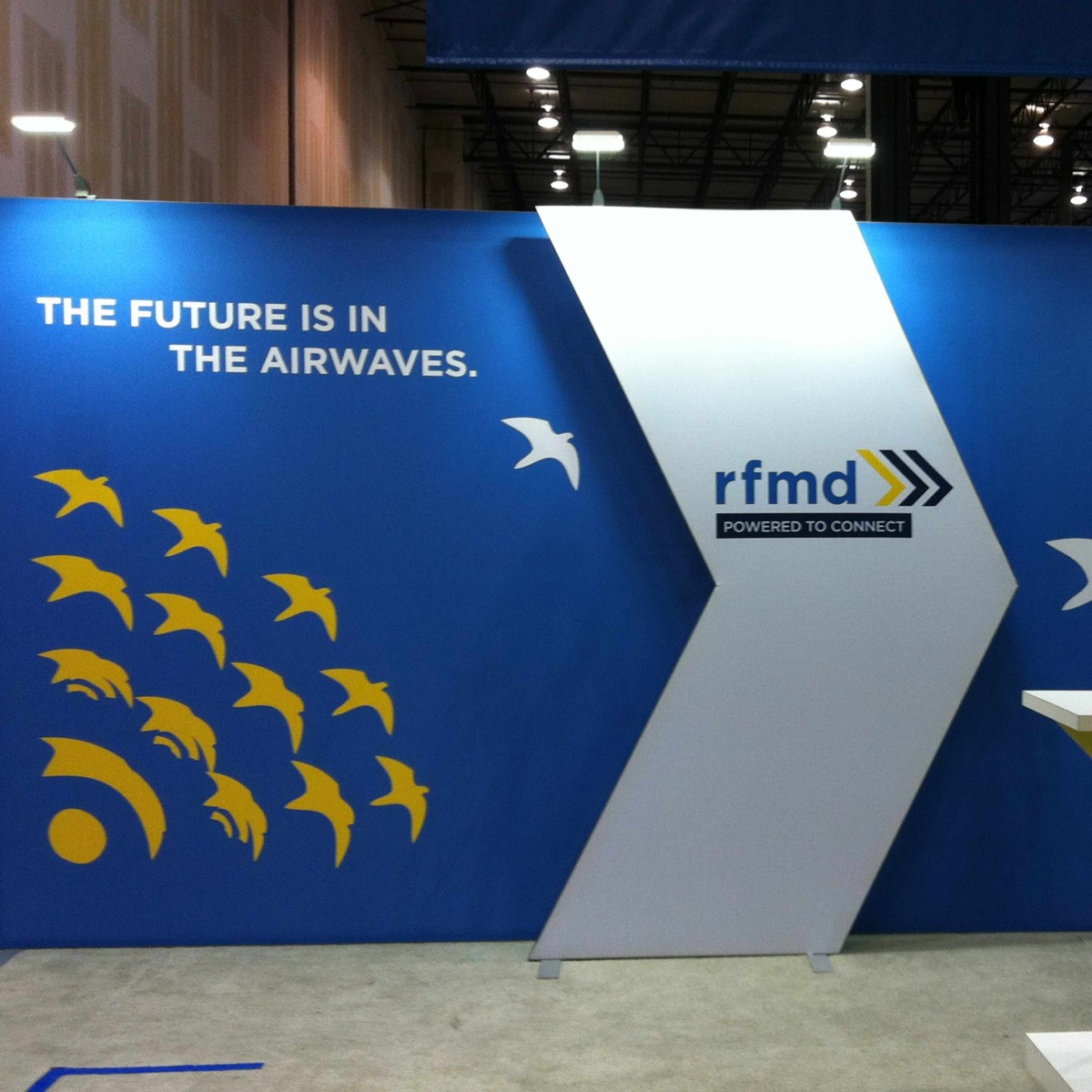 RFMD CCBN trade show wall