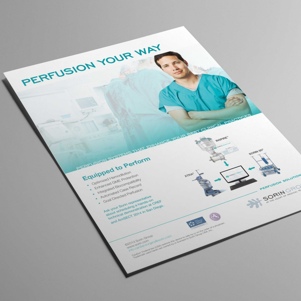 Sorin perfusion product ad