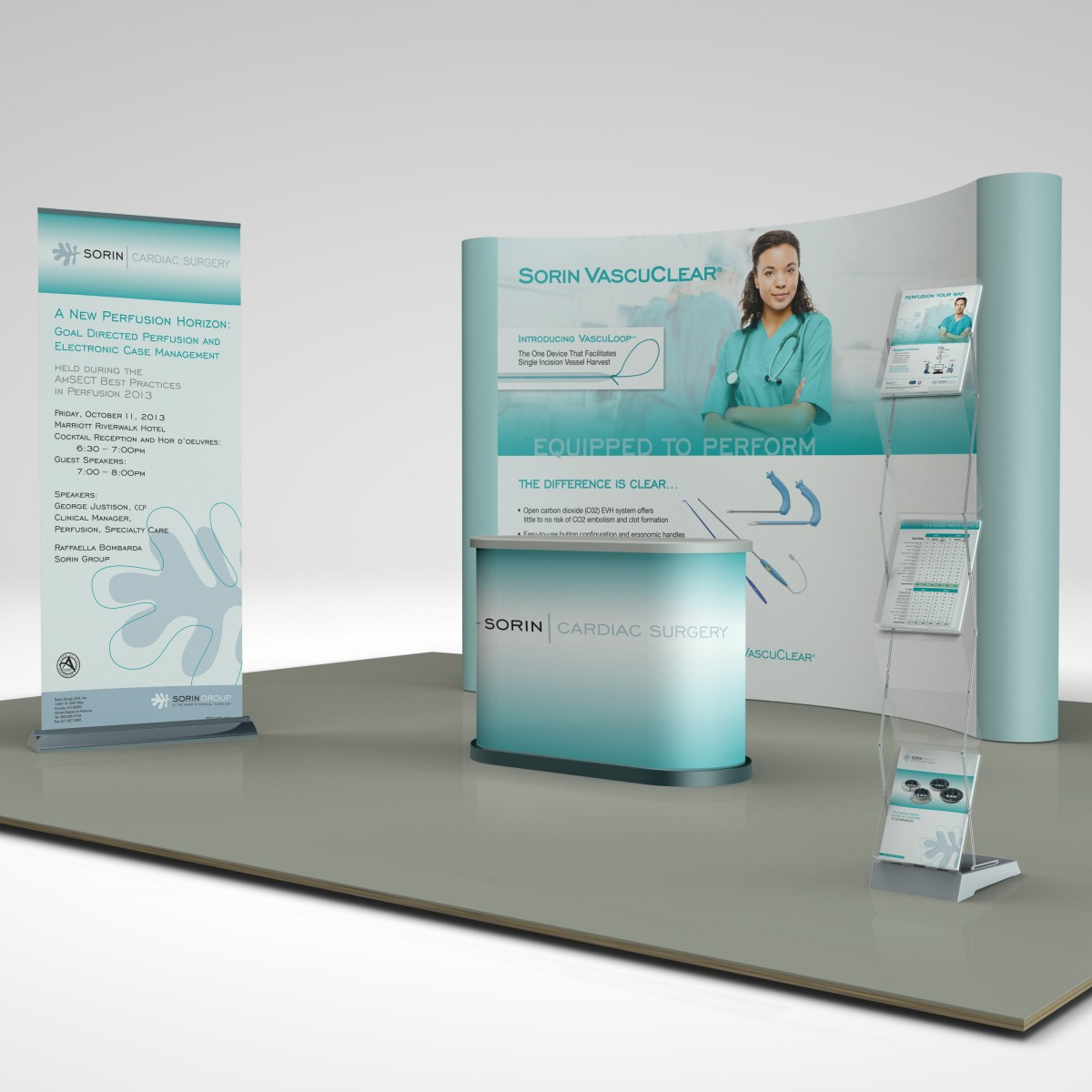 Sorin trade show display