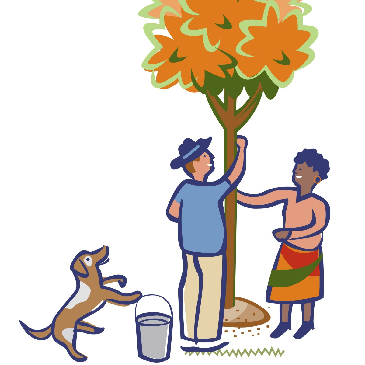 Tree People illustration