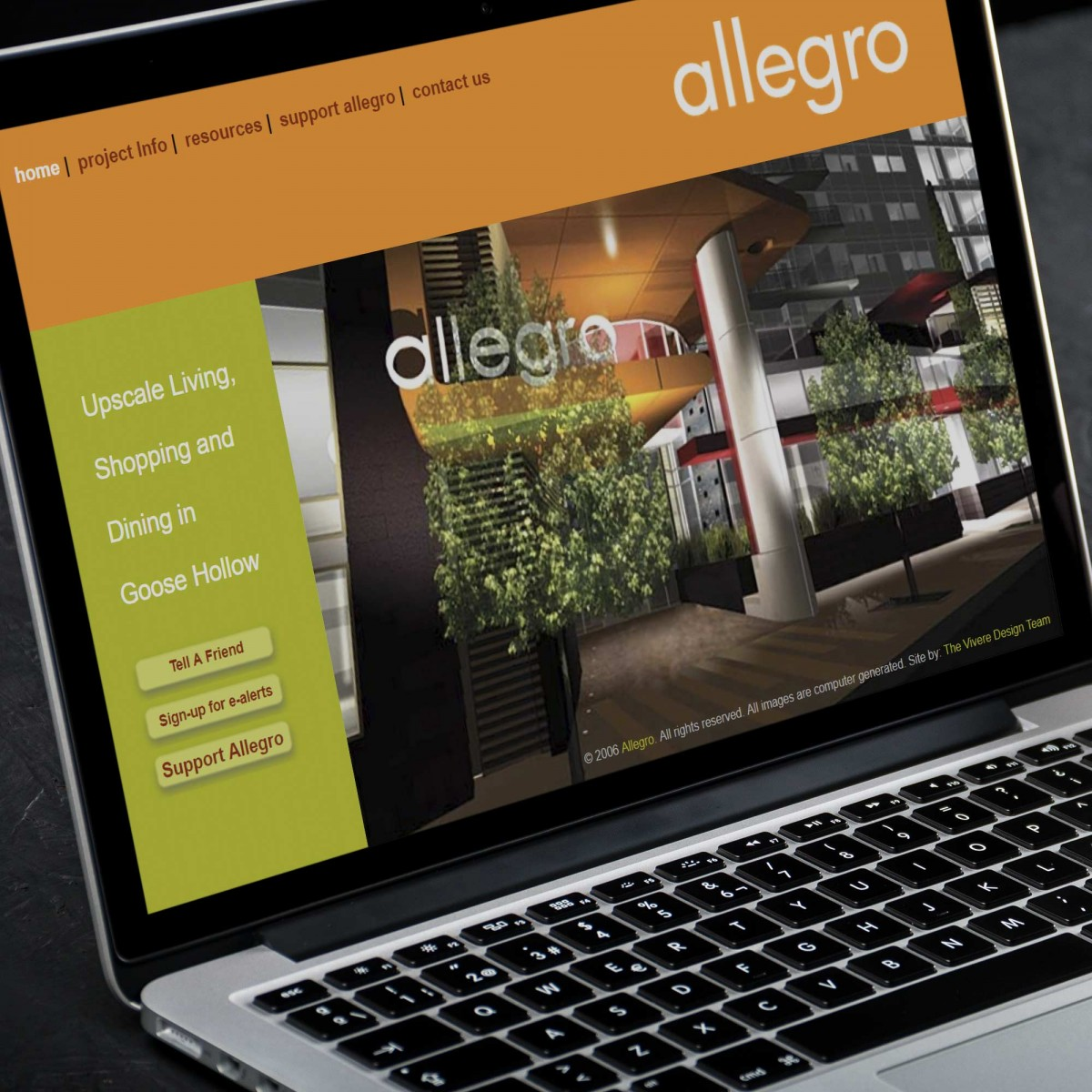 Allegro mixed use development website