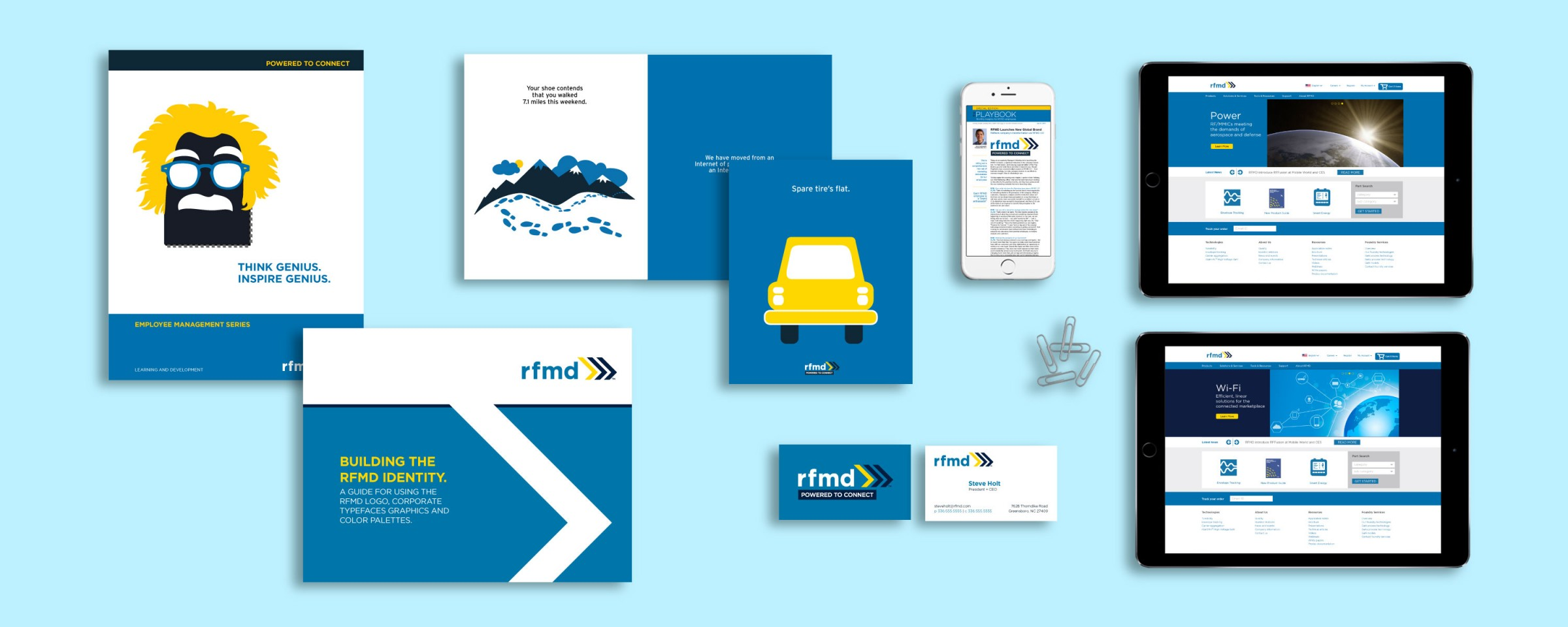 Branding work created for RFMD.
