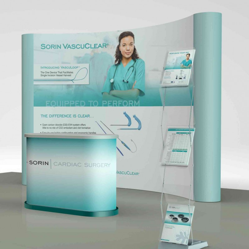 Sorin trade show exhibit designed in partnership with ide8 Marketing.